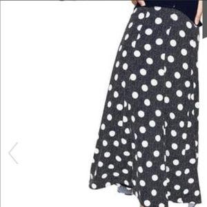 🆕 Boden Floaty Polka Dot Skirt